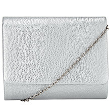 Buy John Lewis Babs Chain Clutch Bag, Silver Online at johnlewis.com