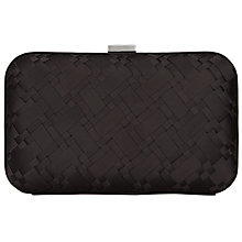 Buy John Lewis Rebecca Textured Clutch Box, Black Online at johnlewis.com
