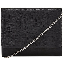 Buy John Lewis Babs Pebble Chain Clutch Bag, Black Online at johnlewis.com