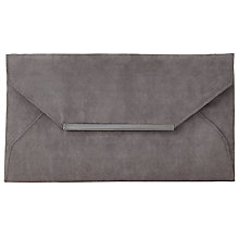 Buy John Lewis Abby Envelope Clutch Bag, Ash Grey Online at johnlewis.com