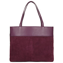 Buy John Lewis Ebony Medium Leather Tote Online at johnlewis.com