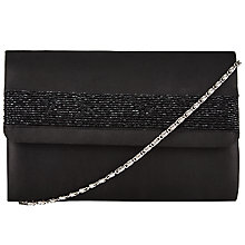 Buy John Lewis Beattie Beaded Clutch Bag, Black Online at johnlewis.com