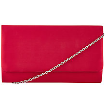 Buy John Lewis Silk Clutch Bag, Crimson Online at johnlewis.com