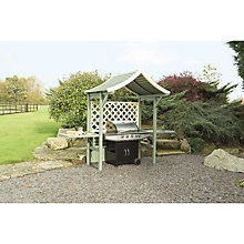 Buy Rowlinson Painted Barbeque Arbour, Willow/Cream Online at johnlewis.com