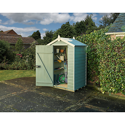 Rowlinson Shiplap Apex Garden Shed, 4 x 3m, Willow/Cream