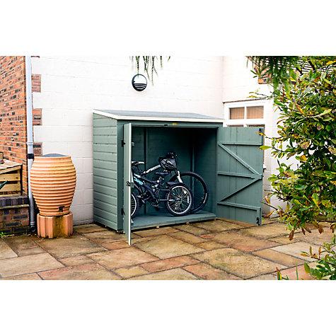 Buy rowlinson wall bike store willow cream john lewis for Garden shed qatar