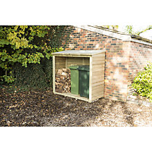 Buy Rowlinson Wall Log Store, Timber Finish Online at johnlewis.com