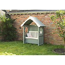 Buy Rowlinson Windsor Arbour with Cushion Box, Willow/Cream Online at johnlewis.com