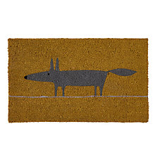 Buy Scion Mr Fox Doormat, Yellow Online at johnlewis.com
