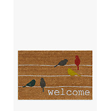 Buy John Lewis Birds on a Wire Doormat, Multi Online at johnlewis.com