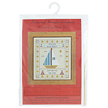 Buy The Historical Sampler Company SailBoat Birth Needlecraft Kit, Multi Online at johnlewis.com