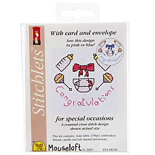 Buy Mouseloft Congratulations Cross Stitch Kit Online at johnlewis.com