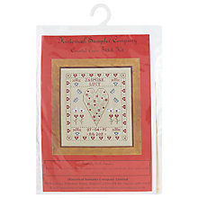 Buy Historical Sampler Heart Birth Needlecraft Kit, Multi Online at johnlewis.com
