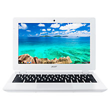 "Buy Acer CB3-111 Chromebook, Intel Celeron, 2GB RAM, 16GB SSD, 11.6"", White Online at johnlewis.com"