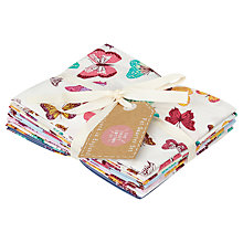Buy The Craft Cotton Co. Butterfly Print Fat Quarters, Pack of 6, Multi Online at johnlewis.com