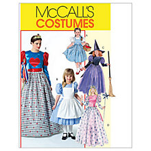 Buy McCall's Women's and Girls' Dress Costume Sewing Pattern, 4948 Online at johnlewis.com