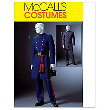 Buy McCall's Men's Civil War Coat and Trousers Costume Sewing Pattern, 4745 Online at johnlewis.com