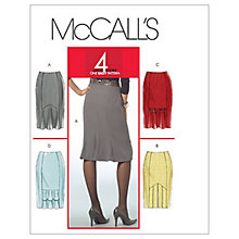 Buy McCall's Women's Petite Godet Detail Skirt Sewing Pattern, 5523 Online at johnlewis.com