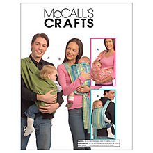 Buy McCall's Baby Carriers Sewing Pattern, 5678, One Size Online at johnlewis.com