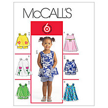 Buy McCall's Girls' Top, Dress and Shorts Sewing Pattern, 5416 Online at johnlewis.com