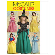Buy McCall's Girls' Princess and Witch Costumes Sewing Pattern, 5494 Online at johnlewis.com