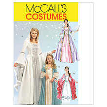 Buy McCall's Women's and Girls' Princess Costume Sewing Pattern, 5731 Online at johnlewis.com