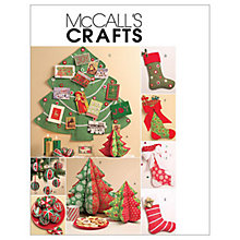 Buy McCall's Holiday Decorations Sewing Pattern, 5778, One Size Online at johnlewis.com
