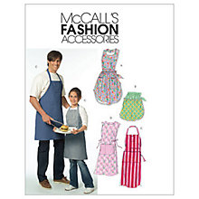 Buy McCall's Aprons Sewing Pattern, 5551, One Size Online at johnlewis.com