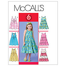 Buy McCall's Girls' Summer Dress Sewing Pattern, 4817 Online at johnlewis.com