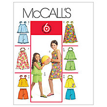 Buy McCall's Girls' Top, Dress and Shorts Sewing Pattern, 5419 Online at johnlewis.com