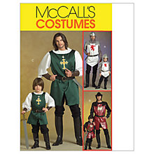 Buy McCall's Men's and Boys' Knight Costume Sewing Pattern, 5500 Online at johnlewis.com