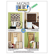 Buy McCall's Window Blinds and Curtains Sewing Pattern, 5828, One Size Online at johnlewis.com