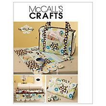 Buy McCall's Project Tote, Organiser, Pin Cushion and Machine Mat Sewing Pattern, 5871, One Size Online at johnlewis.com