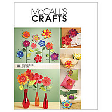 Buy McCall's Dimensional Flowers Sewing Pattern, 5869, One Size Online at johnlewis.com