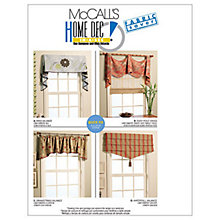 Buy McCall's Curtains Sewing Pattern, 5872, One Size Online at johnlewis.com