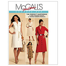 Buy McCall's Women's Shirt Dress Sewing Pattern, 5847 Online at johnlewis.com