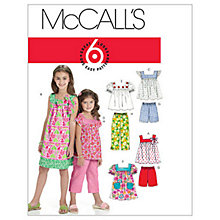 Buy McCall's Girls' Top, Dress, Shorts and Trousers Sewing Pattern, 6022 Online at johnlewis.com