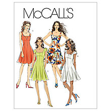 Buy McCall's Women's Petite Flared Dress Sewing Pattern, 6027 Online at johnlewis.com