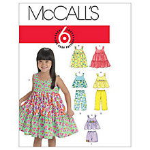 Buy McCall's Girls' Top, Dress, Shorts and Trousers Sewing Pattern, 6017 Online at johnlewis.com