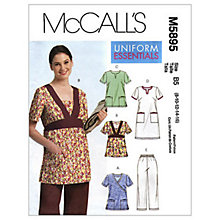 Buy McCall's Women's Nurse Uniform Sewing Pattern, 5895 Online at johnlewis.com