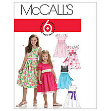 Buy McCall's Girls' Lined Flared Dress Sewing Pattern, 6020 Online at johnlewis.com