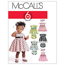 Buy McCall's Children's Lined Dresses, Panties and Headband Sewing Pattern, 5791 Online at johnlewis.com
