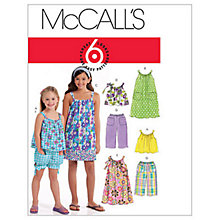 Buy McCall's Girls' Top, Dress, Shorts and Cropped Trousers Sewing Pattern, 5797 Online at johnlewis.com