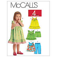 Buy McCall's Children's Top, Dress, Shorts and Capri Trousers Sewing Pattern, 5835 Online at johnlewis.com