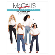 Buy McCall's Women's Straight and Bootcut Jeans Sewing Pattern, 5894 Online at johnlewis.com