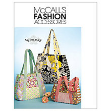 Buy McCall's Tote Bags in 3 Sizes Sewing Pattern, 5822, One Size Online at johnlewis.com