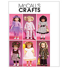 "Buy McCall's 18"" Doll Clothes and Accessories Sewing Pattern, 6005, One Size Online at johnlewis.com"