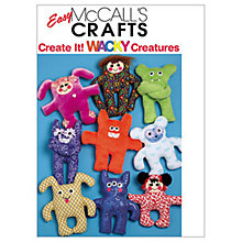 Buy McCall's Creature Dolls Sewing Pattern, 5826, One Size Online at johnlewis.com