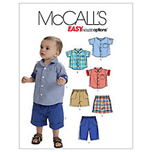 Buy McCall's Boys' Shirt, Shorts and Trousers Sewing Pattern, 6016, One Size Online at johnlewis.com