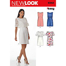 Buy New Look Women's Dresses Sewing Pattern, 6342 Online at johnlewis.com